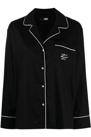 Karl Lagerfeld Dame Pyjamaser - Logo-embroidered pajama trousers
