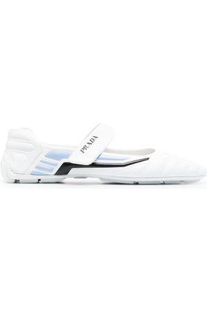Prada Touch-strap ballerine shoes