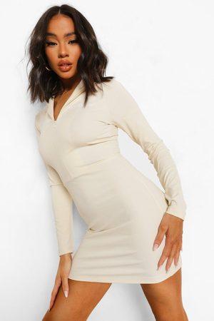 Boohoo Dame Bodycon kjoler - High Neck Zip Bodycon Dress