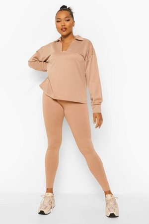 Boohoo Dame Onesies - Plus Polo Neck Lounge Set
