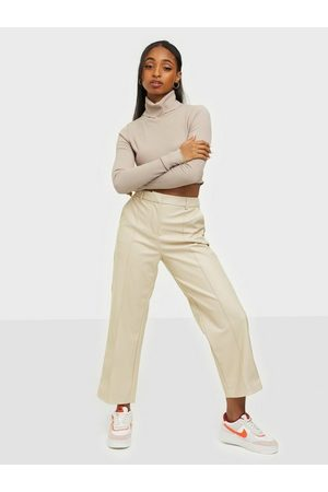 Only Onlhera Faux Leather Straight Pant Pumice Stone
