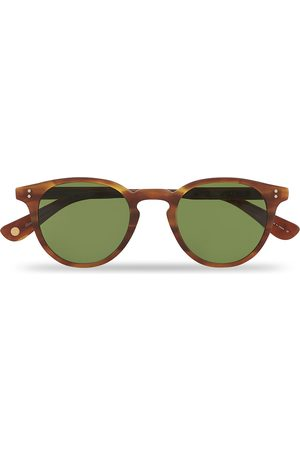GARRETT LEIGHT Herre Solbriller - Clement Sunglasses Matte Honey/Pure Green