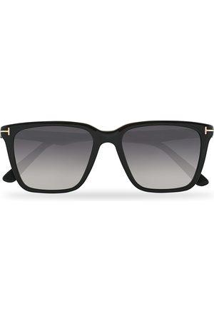 Tom Ford Herre Solbriller - Garrett Sunglasses Shiny Black/Gradient Smoke