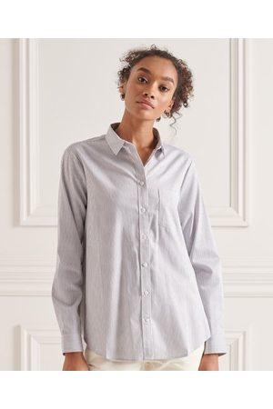 Superdry Dame Langermede - Klassisk langermet skjorte i preppy stil