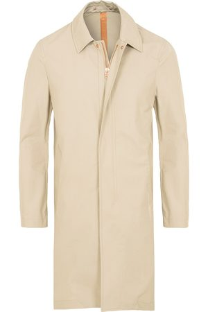 PRIVATE WHITE V.C. Herre Trenchcoats - Unlined Cotton Ventile Mac Coat 3.0 Stone