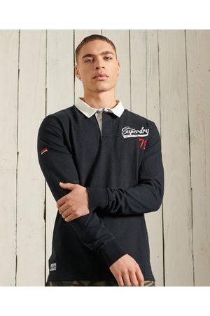 Superdry Herre Langermede - Langermet rugbyskjorte i jersey