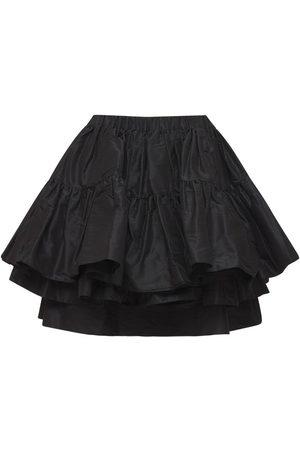 Miu Miu Dame Miniskjørt - Ruffled Silk Taffeta Mini Skirt