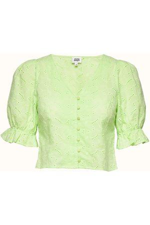 Twist & tango Malin Blouse Blouses Short-sleeved Grønn