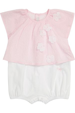 Il gufo Baby embellished stretch-cotton bodysuit