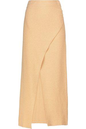 Nanushka Ainsley cotton-blend midi skirt