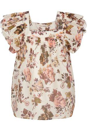 ULLA JOHNSON Kiki floral organza blouse