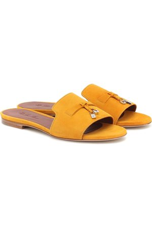 Loro Piana Dame Sandaler - Summer Charms suede sandals