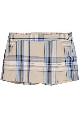 Il gufo Jente Shorts - Checked cotton-blend skort