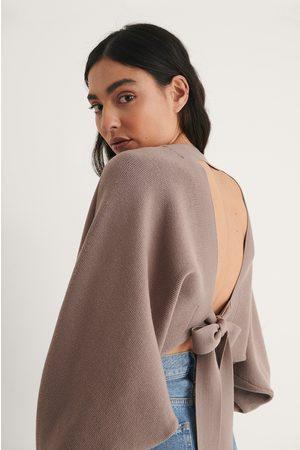 NA-KD Trend Dame Boleros - Knot Detail Knitted Bolero