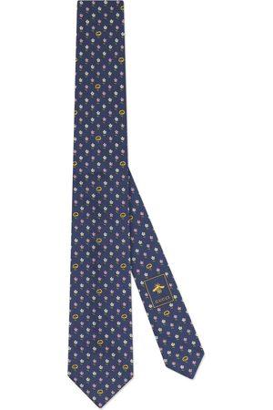 Gucci Interlocking G and flowers silk tie