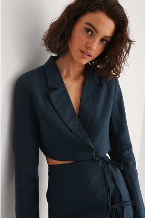 NA-KD Trend Dame Blazere - Beskåret Linblazer