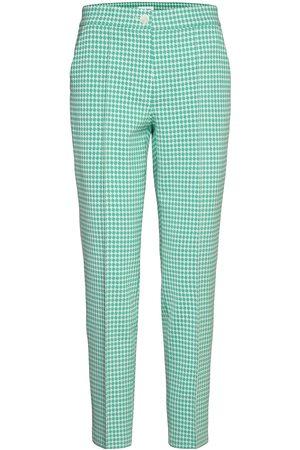 Gerry Weber Dame Smale bukser - Crop Leisure Trouser Slimfit Bukser Stoffbukser Grønn
