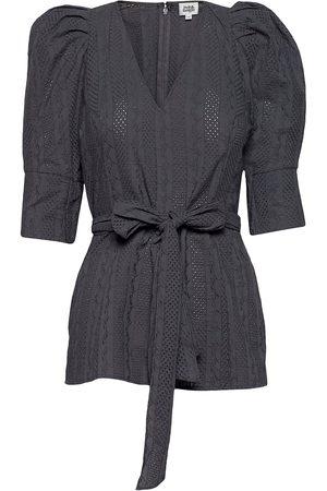 Twist & tango Nova Blouse Blouses Short-sleeved Svart