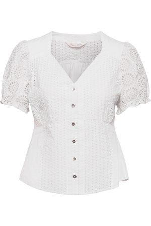 Odd Molly Fleur Top Blouses Short-sleeved Hvit