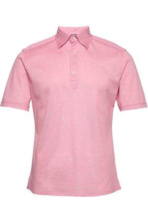 Eton Herre Kortermede - Blue Polo Short Sleeve Popover Shirt Polos Short-sleeved