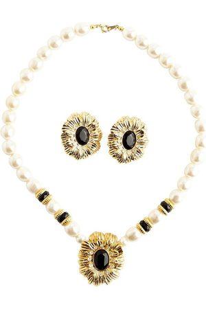 Kenneth Jay Lane Dame Smykkesett - Pearled Flower Set