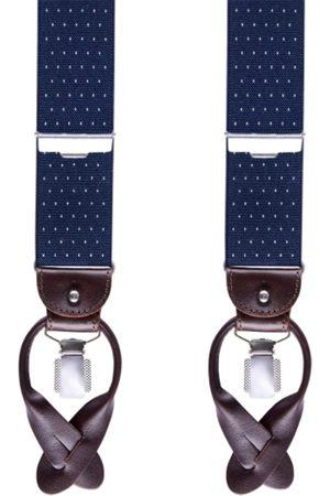 Profuomo Herre Belter - Braces Pindot Navy Div Accessories