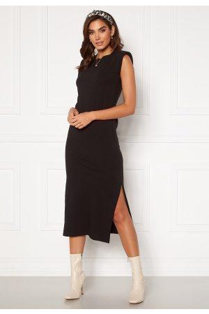 Bohemian Lounge Shoulder Pad Midaxi Dress Black S (UK10)