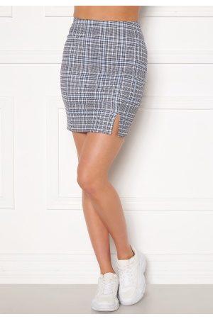 Sara Sieppi x Bubbleroom Dame Miniskjørt - Mini Skirt Grey XL