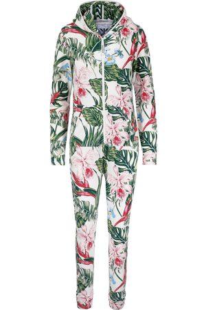 Onepiece Onesies - Tropicana Slim Jumpsuit Off White Print