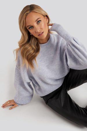 NA-KD Dame Strikkegensere - Wool Blend Balloon Sleeve Sweater