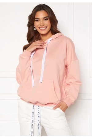 KENDALL + KYLIE K&K Active Oversized Logo Hoody Pink/Wht XS