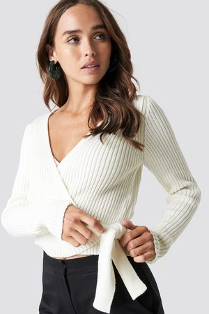NA-KD Dame Gensere - Overlap Ribbed Knitted Sweater