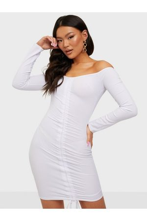 Missguided Ribbed Ruched Front Mini
