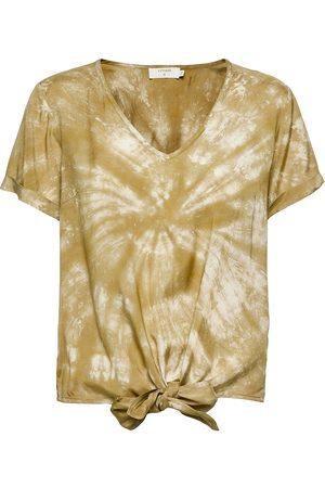 Cream Dame Kortermede - Crhuvela Ss Blouse Blouses Short-sleeved Gull
