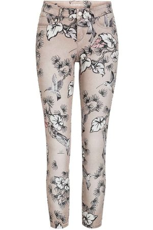 Cambio Dame Smale bukser - Cropped/Flower Print/Superstretch Bukse
