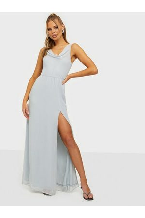 NLY Eve Dame Maxikjoler - Lovesome Waterfall Gown Dusty Blue