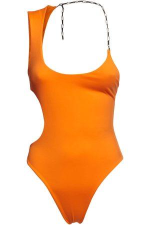 The Attico Matte One Piece Swimsuit W/ Chain
