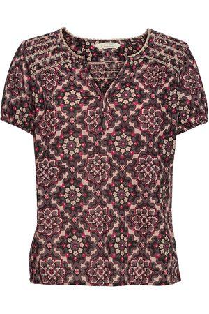 Odd Molly Dame Kortermede - Myrtle Blouse Blouses Short-sleeved Rosa