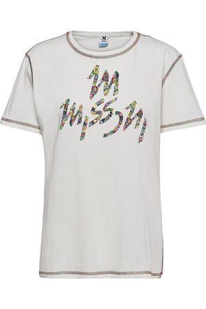 M Missoni Dame Kortermede - Short Sleeve T-Shirt T-shirts & Tops Short-sleeved Grå