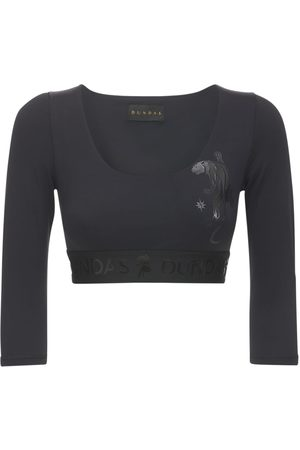 Dundas Dame Langermede - Long Sleeved Lycra Top W/ Logo Details