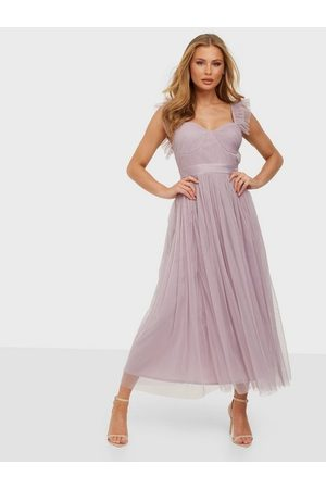 ANAYA Dame Festkjoler - Tulle Midaxi With Cups and Straps Dress