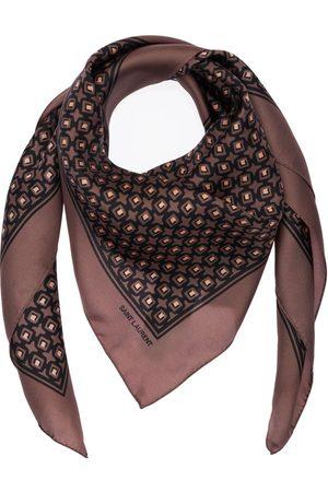 Saint Laurent Herre Skjerf - Cubique Silk Scarf