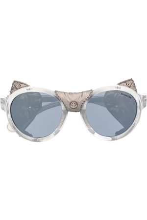 Moncler Studded leather sunglasses