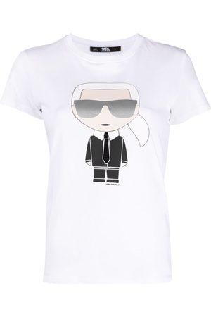 Karl Lagerfeld Dame Kortermede - Ikonik graphic-print T-shirt