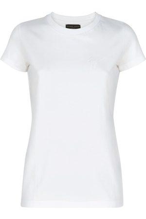 Giuseppe Zanotti Logo embroidered cotton T-shirt