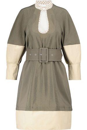 Chloé Belted silk-blend poplin minidress