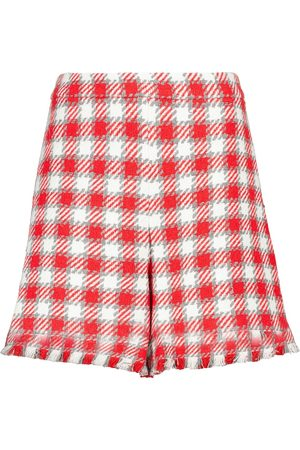 Oscar de la Renta Checked wool-blend shorts
