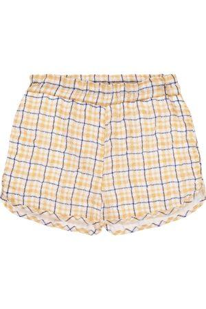 PAADE Dana checked chiffon shorts