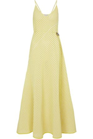 Bottega Veneta Striped cotton-blend maxi dress