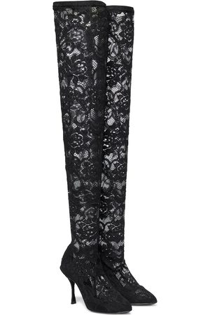Dolce & Gabbana Lace over-the-knee boots